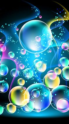 By Artist Unknown. Phone Screen Wallpaper, Heart Wallpaper, Butterfly Wallpaper, Cellphone Wallpaper, Pattern Wallpaper, Wallpaper Backgrounds, Iphone Wallpaper, Bubbles Wallpaper, Rainbow Wallpaper