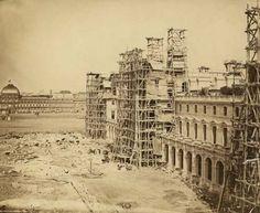 New Louvre under construction, Paris (circa 1855)