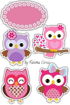 Baby Scrapbook, Scrapbook Stickers, Scrapbook Paper, Bird Crafts, Diy And Crafts, Paper Crafts, Owl Themed Parties, Owl Clip Art, Baby Album
