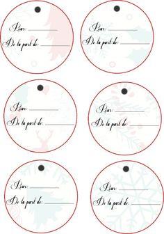 A imprimer: Etiquettes pour les cadeaux de Noël...