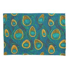 Peacock Feather Abstract Pillowcase