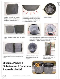 Panière Ronde Multi-Poches - Tuto PDF et Vidéo Diy Couture Cadeau, Formation Couture, Wand Tattoo, Fabric Basket Tutorial, Coin Couture, Blog Couture, Fabric Storage, Sewing Accessories, Sewing Projects For Beginners