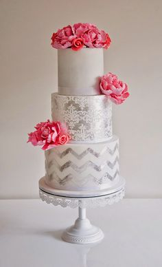 Lace Wedding Cakes ~ Coco Cakes | bellethemagazine.com