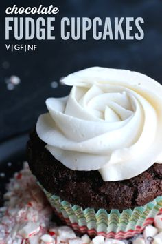 Jump to Recipe·Print Recipe These vegan & gluten-free Dark Chocolate Cupcakes are rich and decadent and insanely delicious. Oh cupcakes….how you make any day special! Lat month I celebrated reaching. Cacao Recipes, Vegan Dessert Recipes, Vegan Sweets, Gluten Free Desserts, Chocolate Fudge Cupcakes, Dark Chocolate Recipes, Gluten Free Chocolate, Cupcake Flavors, Cupcake Recipes