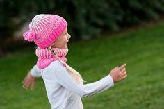 Resteverwertung gestrickte Mütze und Schal ( Brioche)  ----  knitten hat and scarf - stash buster