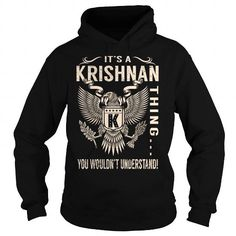 Cool Its a KRISHNAN Thing You Wouldnt Understand - Last Name, Surname T-Shirt (Eagle) T shirts