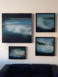 Blues. Special pricing starting this week on select paintings. Www.sharonkingston.com