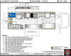 CAD equipment floor plan - Food Trucks For Sale | Used Food Trucks