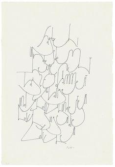 Hans-Joachim Burgert   Sag doch, wird es denn heute nicht Tag?, 1978  87 x 53 cm, BSK 3,1,17