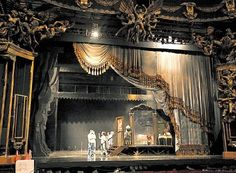 Teatro Opera, Buenos Aires. Set getting ready for the Opening Night. March  2009