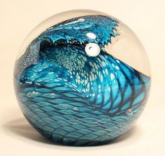Beautiful Wave glass paper weight