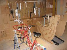 Recycled materials Christmas display at DDB London