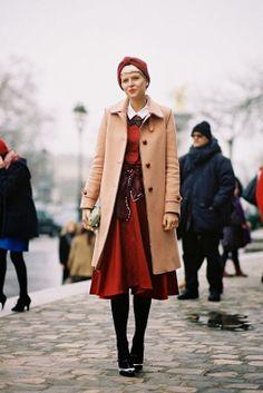 Stylist Elisa Nalin, before Carven and Balmain, Paris, February 2013