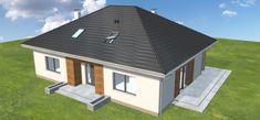 Projekt domu Heros bez garażu 131,6 m2 - koszt budowy - EXTRADOM Shed, Outdoor Structures, Outdoor Decor, Home Decor, Decoration Home, Room Decor, Home Interior Design, Barns, Sheds