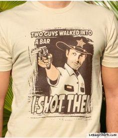 chris hardwick talking dead funny   Rick Grimes I Shot Them T-Shirt