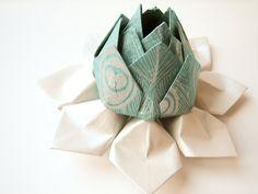 Origami Lotus Flower Decoration or Favor