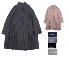 RAMIES/ Free Style Pleated Linen Long Jacket/ Cape/ by Ramies