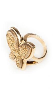 Butterfly Ring - druzy