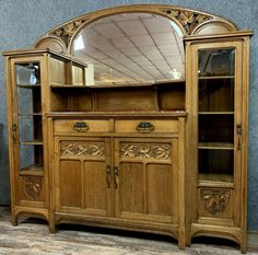 In the tradition of the Nancy school: Art Nouveau period - Catawiki Art Nouveau Furniture, Marble Top, Sideboard, Period, Asian, Traditional, Mirror, School, Home Decor