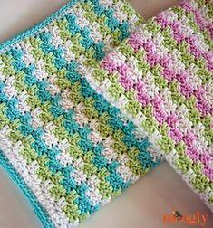 Irish crochet &: Еще один интересный узор для детского пледа.