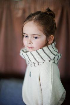 Striped Infinity Scarf / white / brown loop scarf / alpaca wool Circle Scarf / woman / adult / girl / boy / toddler / children / kids