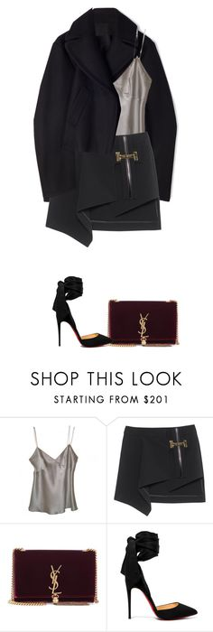 """shh"" by sxltynights ❤ liked on Polyvore featuring Christian Dior, Anthony Vaccarello, Yves Saint Laurent and Christian Louboutin"