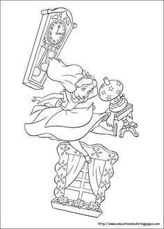 alice in wonderland coloring pages free for kids - Alice Wonderland Coloring Pages