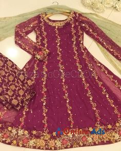 Party wear made on order Asian Wedding Dress Pakistani, Pakistani Party Wear Dresses, Bridal Mehndi Dresses, Fancy Wedding Dresses, Simple Pakistani Dresses, Pakistani Dress Design, Bridal Outfits, Simple Dresses, Shadi Dresses