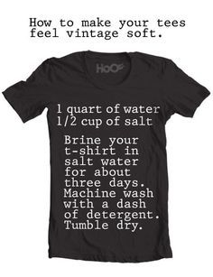 Men's Fashion Hack | Make all your t-shirts vintage soft. |  Life Hacks List from DIYReady.com #LifeHacks #DIYReady