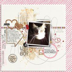 Digi Love Affair with Junior Fluffkins O Love, Adore You, Cat Sketch, Love Affair, Digital Scrapbooking, Community, Pets, Animals, Animales