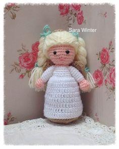 Crochet amigurumi style angel