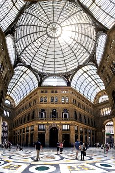#Napoli - Betro Giuseppe - Galleria Umberto I, panoramica. #Naples - Umberto I Gallery, panoramic view. #Italy