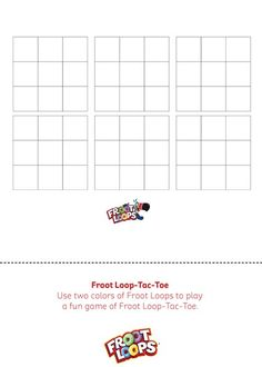 Froot Loops Tic-Tac-Toe helps teach your kids problem solving.