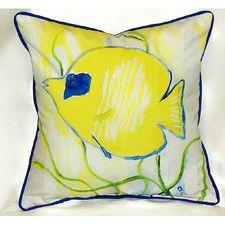 Coastal Tang Indoor/Outdoor Throw Pillow