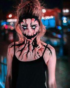 Zombie Halloween Makeup, Amazing Halloween Makeup, Scary Halloween Costumes, Halloween 2018, Halloween Makeup Looks, Makeup Fx, Creepy Makeup, Horror Makeup, Face Makeup