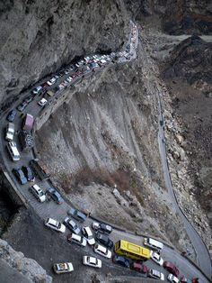 Terrifying Road, Kabul, Afghanistan
