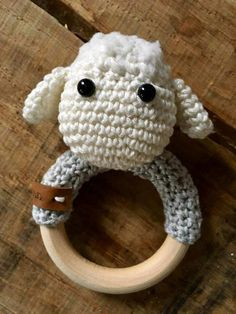 amigurumi rattles by jaravee Crochet Baby Toys, Newborn Crochet, Crochet For Kids, Crochet Animals, Diy Crochet, Crochet Dolls, Baby Knitting, Baby Patterns, Crochet Patterns