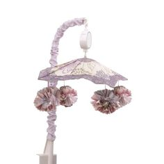 The Peanut Shell Musical Mobile - Purple and Lavender Floral Design - Dahlia Baby Bedding Collection - Walmart.com