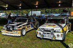 Deux #Renault #R5 #Turbo aux Grandes Heures #Automobiles à #Montlhéry Reportage complet : http://newsdanciennes.com/2015/09/29/grand-format-les-grandes-heures-automobiles/ #Vintage #Cars #Classic_Cars #Voitures #Anciennes