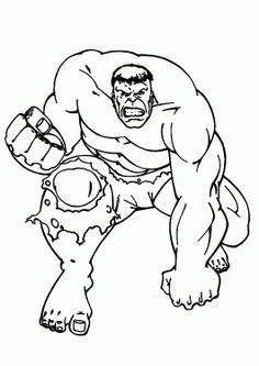 Hulk Coloring Pages For Kids Printable Free