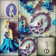 Frozen Elsa - Anna - Olaf #frozen #elsa #olaf #fimo #handmade #polymerclay  www.frypperi.it - www.facebook.com/frypperi