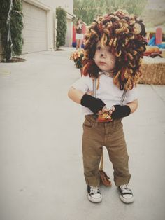 Toddler Lion Costume // The Fancy Bunny party animal. I lOVE lion costumes & Easy No-Sew Kids Lion Halloween Costume | Pinterest | Halloween ...