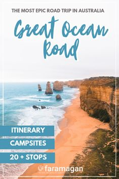 This Great Ocean Road itinerary is the ULTIMATE guide to the most beautiful road trip in Australia. Featuring 20+ stops, the best campsites, wildlife spots, hidden gems & more! greatocean road itinerary | great ocean road australia | great ocean road trip | great ocean road