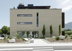 fibreC by Rieder - Hotel Ritzenhof Saalfelden Concrete Cladding, Cladding Materials, Cladding Panels, Reinforced Concrete, Learning Centers, Building Materials, Mansions, Architecture, House Styles