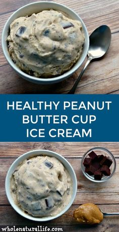 healthy ice cream This peanut butter cup ice cream is healthy, delicious and so easy to make! Dairy-free, refined sugar-free and Paleo-friendly. Homemade Peanut Butter Cups, Healthy Peanut Butter, Homemade Ice Cream, Healthy Homemade Icecream, Coconut Ice Cream, Vegan Ice Cream, Vitamix Ice Cream, Protein Ice Cream, Cream Butter