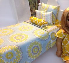 Reserved for Tiffany Bedding for 18 in Doll 5 or 6pc by sashali