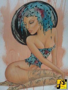 Nimfa-Iwona Wierkowska Rogowska I Am Happy, My Works, Glass Art, Disney Characters, Fictional Characters, Give It To Me, Pastel, Good Things, Watercolor