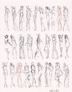 Images For > How To Draw Fashion Figures In Simple Steps