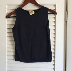 Perfect navy top Cropped but perfect for summer! Very nicely tailored Jenifer T Tops Tank Tops