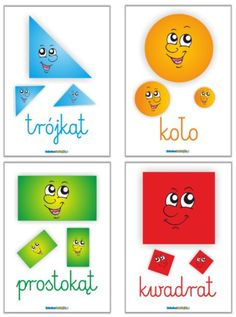Plansze edukacyjne figury - drukowane na A4, foliowane, do kupinia na SzkolneNaklejki.pl Learn Polish, Numicon, Diy And Crafts, Crafts For Kids, Polish Language, Activity Board, Big Words, Toddler Activities, Kids And Parenting